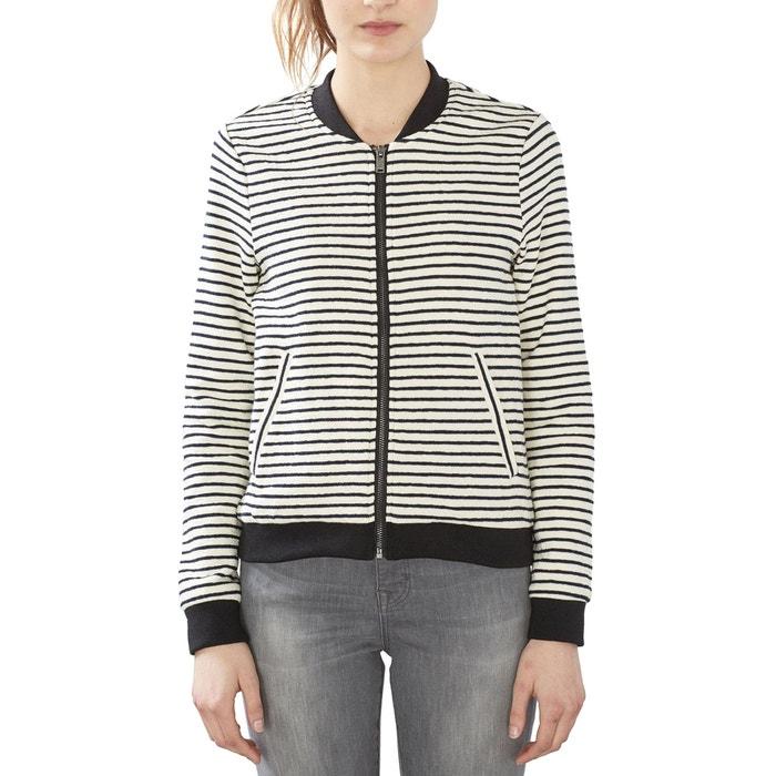 afbeelding Bomber jasje in gestreept tricot ESPRIT