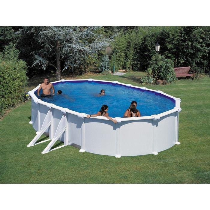 "Kit piscine acier ovale ""Fidji"" - 6.10 x 3.75 x 1.20 m SAN MARINA"