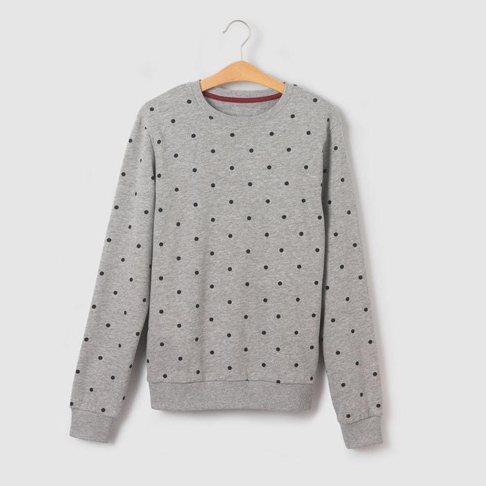 afbeelding Sweater met stippenprint 10-16 jr La Redoute Collections