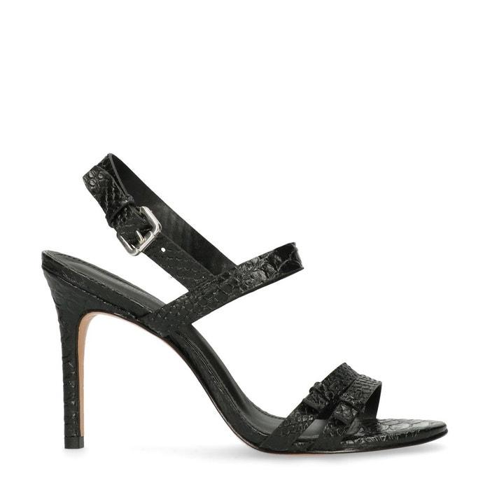Sandales à talon avec motif peau de serpent  Sacha  La Redoute