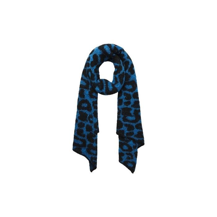Foulard long léopard maille victoria blue Pieces   La Redoute 098139b9cb7