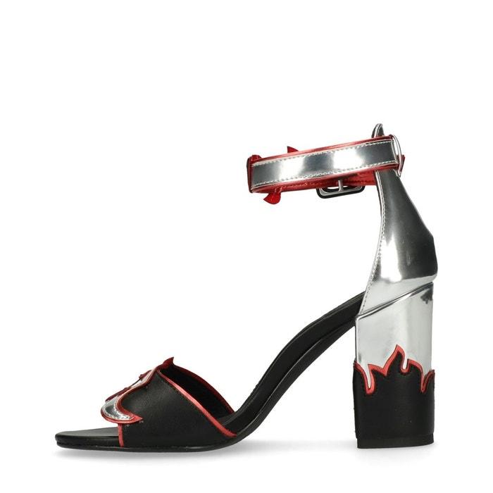 Sandales à talon avec flammes Sacha