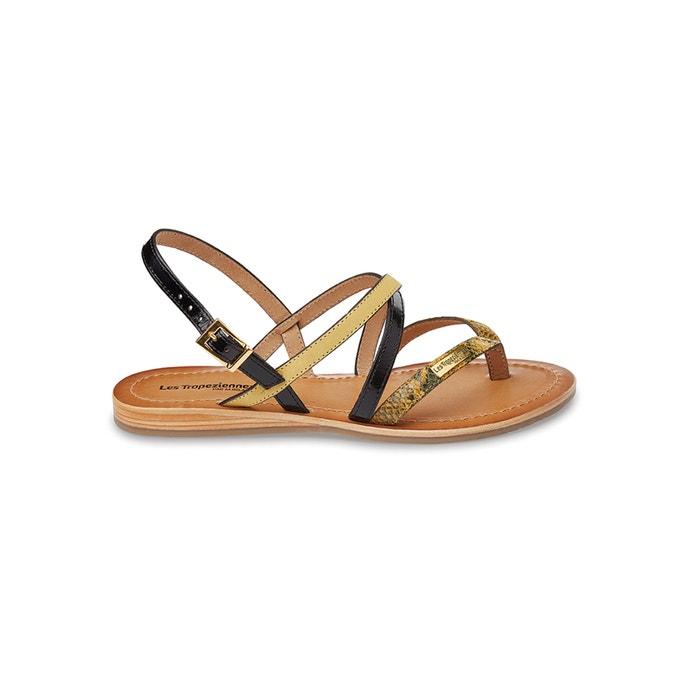 afbeelding Platte sandalen in leer Home LES TROPEZIENNES PAR M.BELARBI