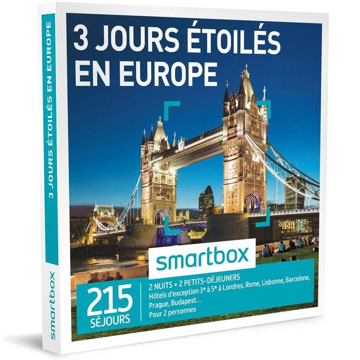 3 jours toil s en europe coffret cadeau couleur unique smartbox la redoute. Black Bedroom Furniture Sets. Home Design Ideas