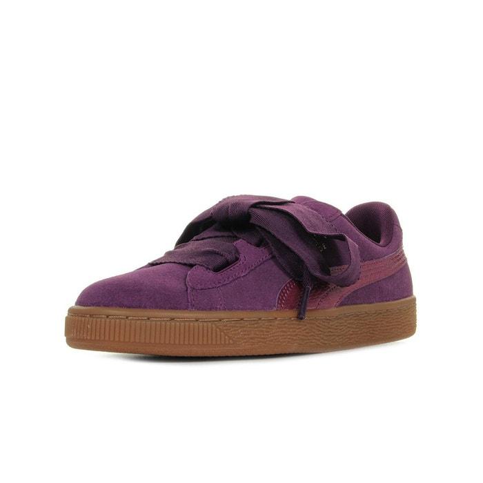 Baskets femme suede heart snk 'dark purple