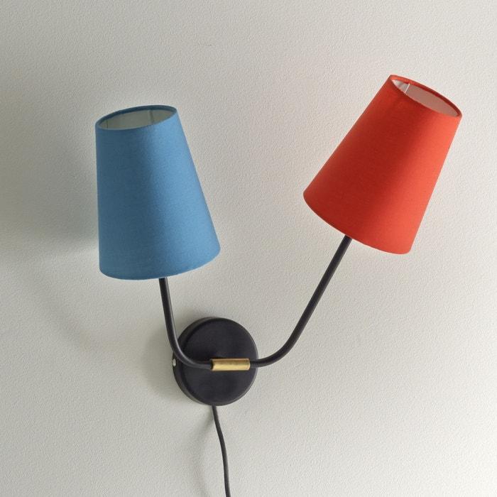 applique amaya la redoute interieurs rouge bleu la redoute. Black Bedroom Furniture Sets. Home Design Ideas
