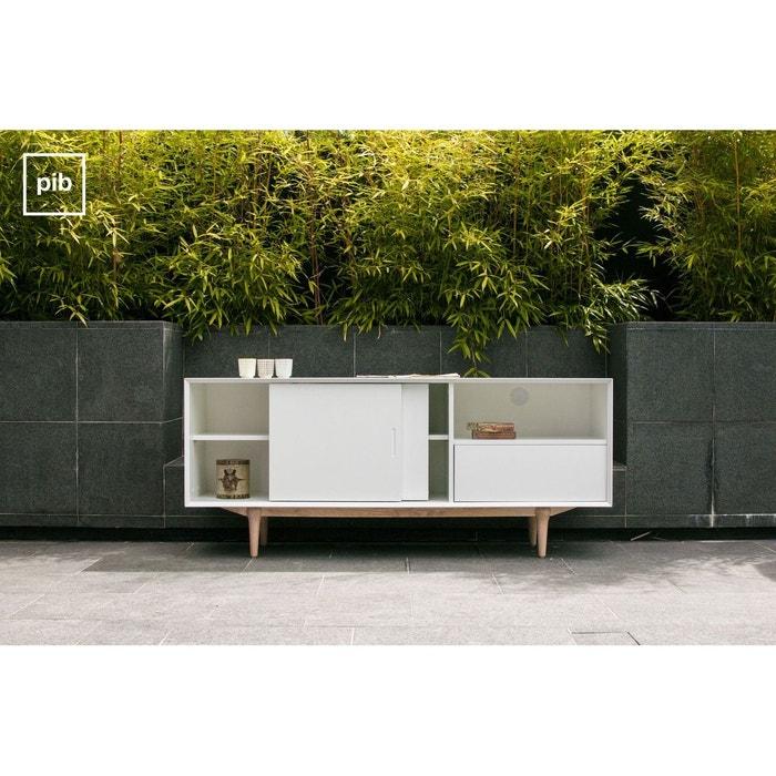 buffet bas en bois fjord couleur unique produit interieur brut la redoute. Black Bedroom Furniture Sets. Home Design Ideas