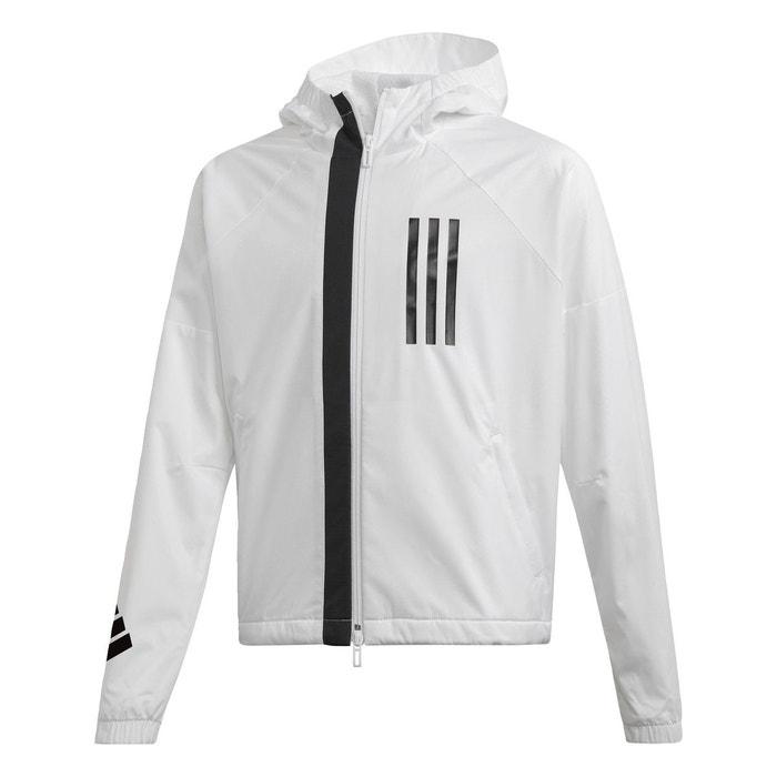 2878591940 Veste id wnd blanc Adidas Performance | La Redoute
