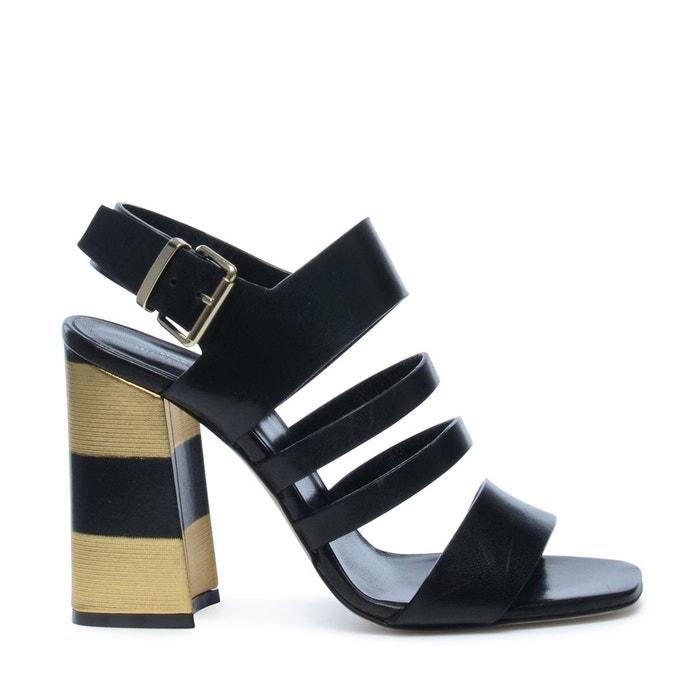 Sandales à talon noir Sacha Réduction Sast authentique Jeu Abordable r3pItHHs