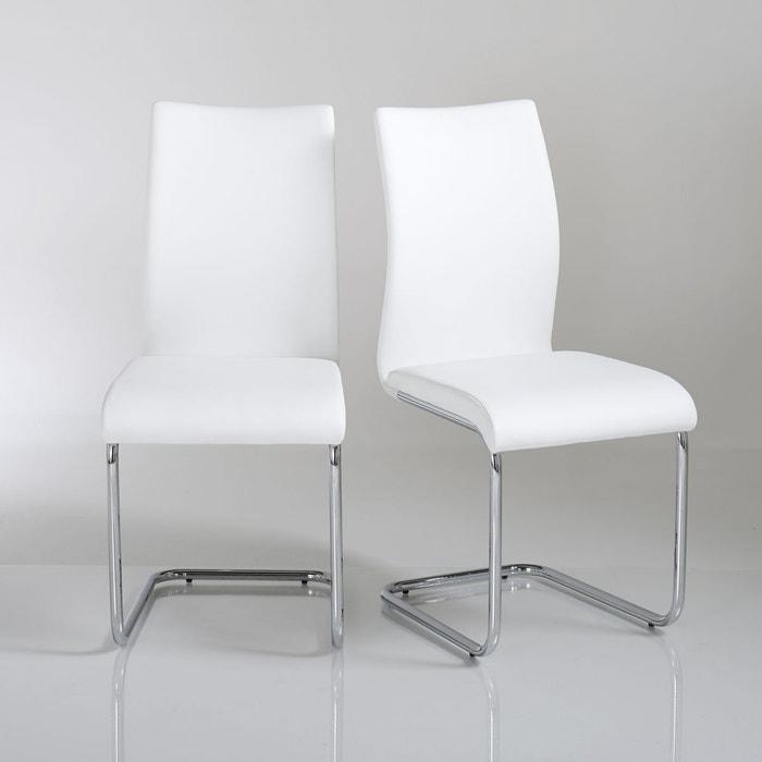 Chaise cantilever newark lot de 2 la redoute interieurs for La redoute chaise