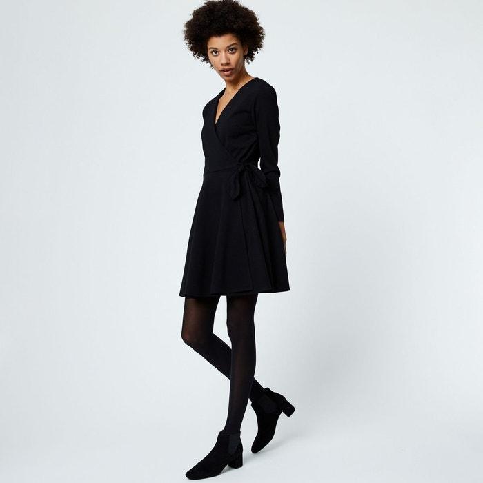 f7ec5b0dae69b Robe manches longues noir Monoprix   La Redoute