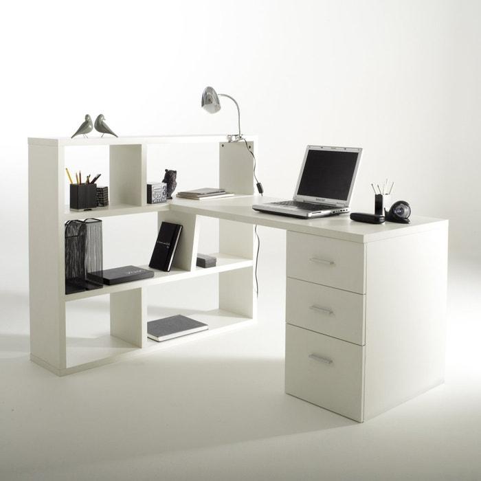 afbeelding Omkeerbaar bureau met bibliotheek, 2 kleuren, Fénon La Redoute Interieurs