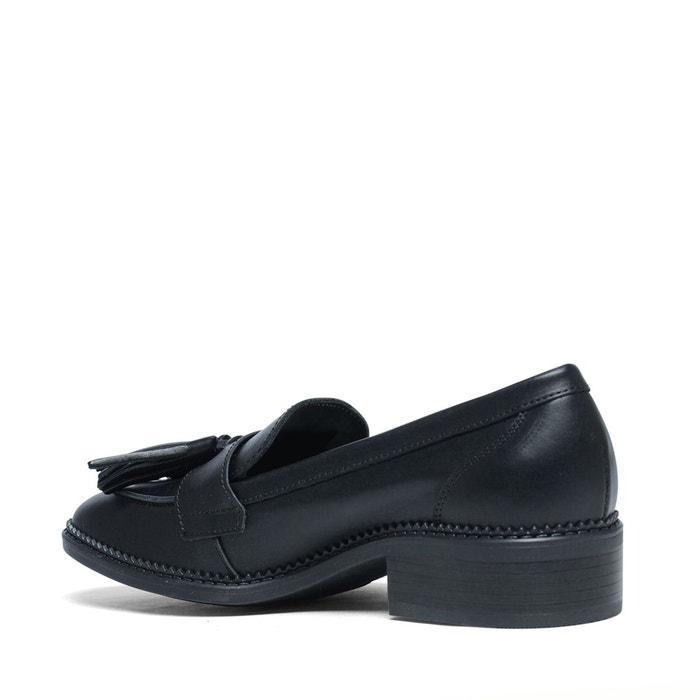 Loafers avec pompons noir Sacha
