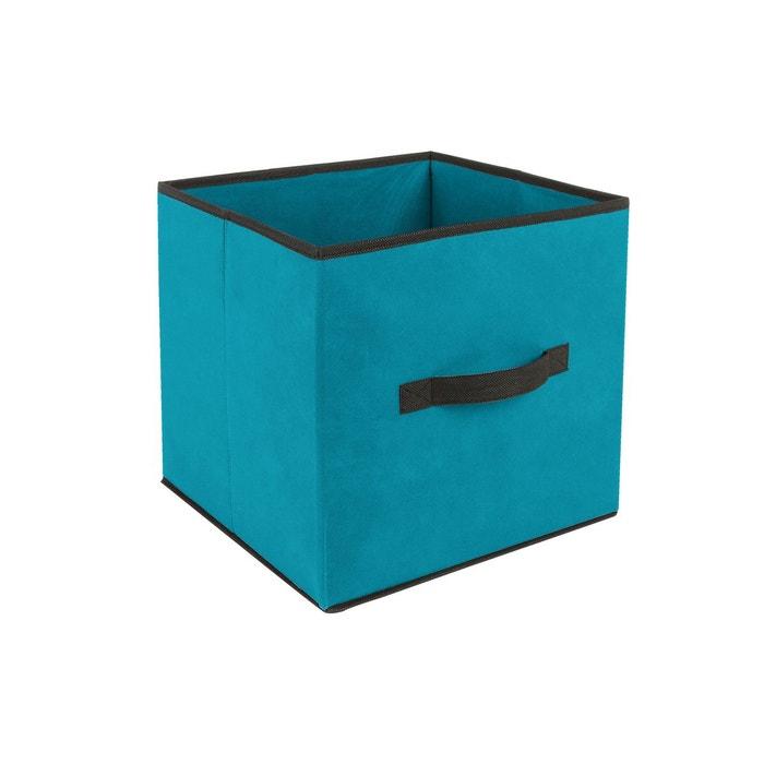 Bo Te De Rangement 31 X 31 Cm Turquoise Bleu Id Space