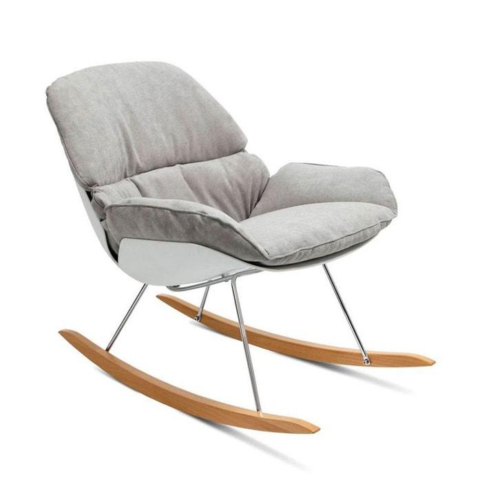 rocking chair vintage en tissu buddy drawer la redoute. Black Bedroom Furniture Sets. Home Design Ideas