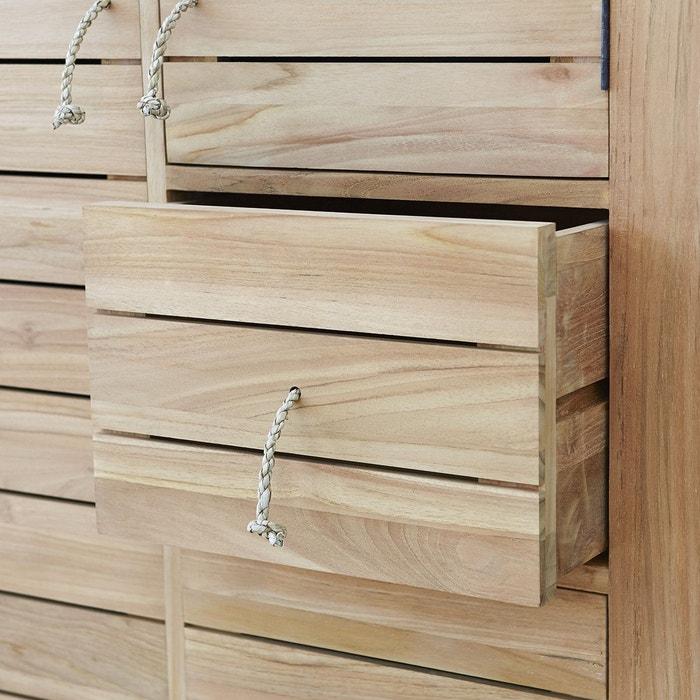 Armoire de rangement en bois de teck 180 minimalys teck brut
