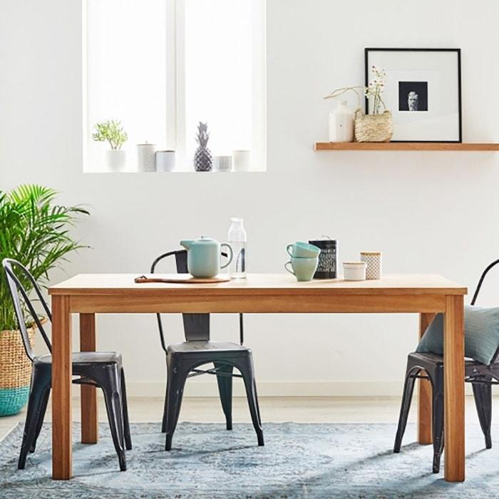 table en bois de teck 6 couverts teck brut bois dessus bois dessous la redoute. Black Bedroom Furniture Sets. Home Design Ideas
