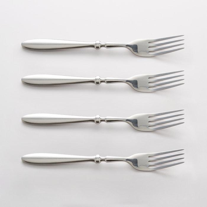 Confezione da 4 forchette inox, RAKINEN  La Redoute Interieurs image 0