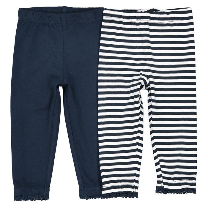 Confezione da 2 leggings da 1 mese a 3 anni Oeko Tex  La Redoute Collections image 0
