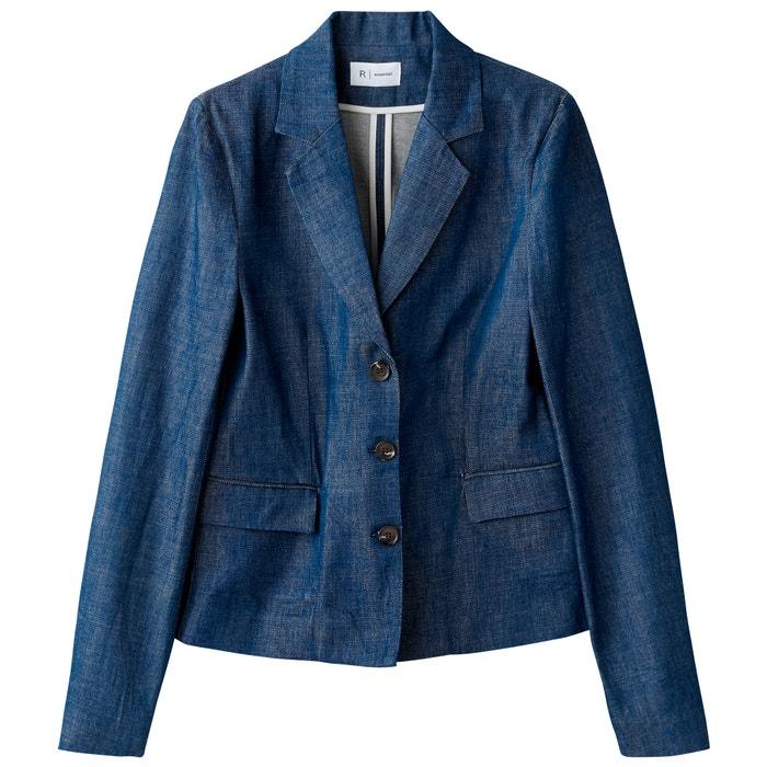 blazer La Redoute de denim Chaqueta Collections estilo 4qBq81w