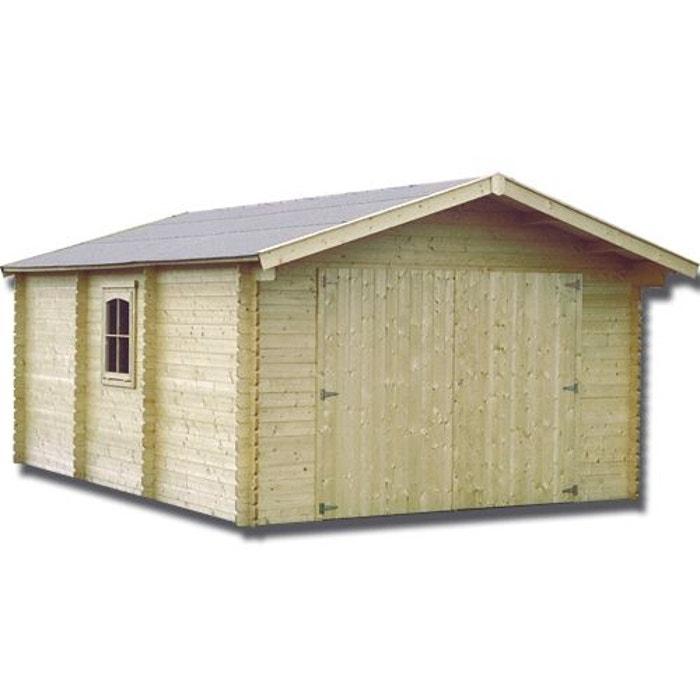 garage bois 44 mm 21 23 m bois clair decor et jardin. Black Bedroom Furniture Sets. Home Design Ideas