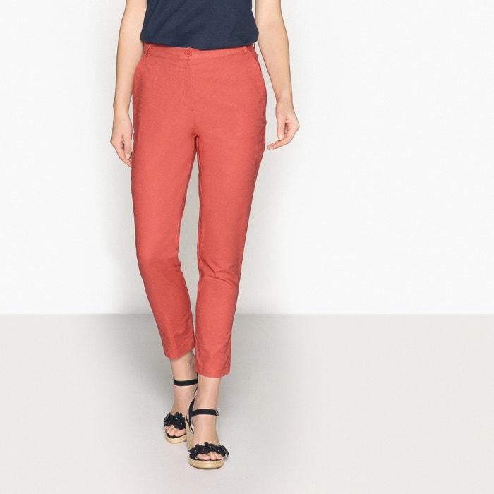 Pantaloni straight 7/8, lino e cotone  ANNE WEYBURN image 0