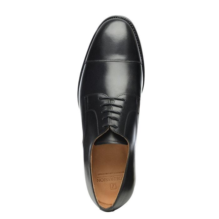 Derby captoe en noir noir Shoepassion