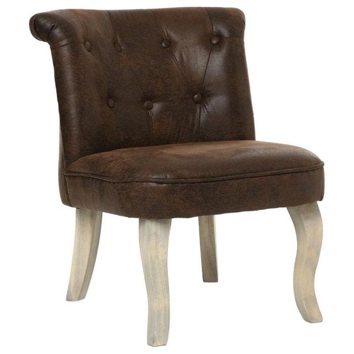 fauteuil crapaud dossier capitonn marron marron vieilli. Black Bedroom Furniture Sets. Home Design Ideas