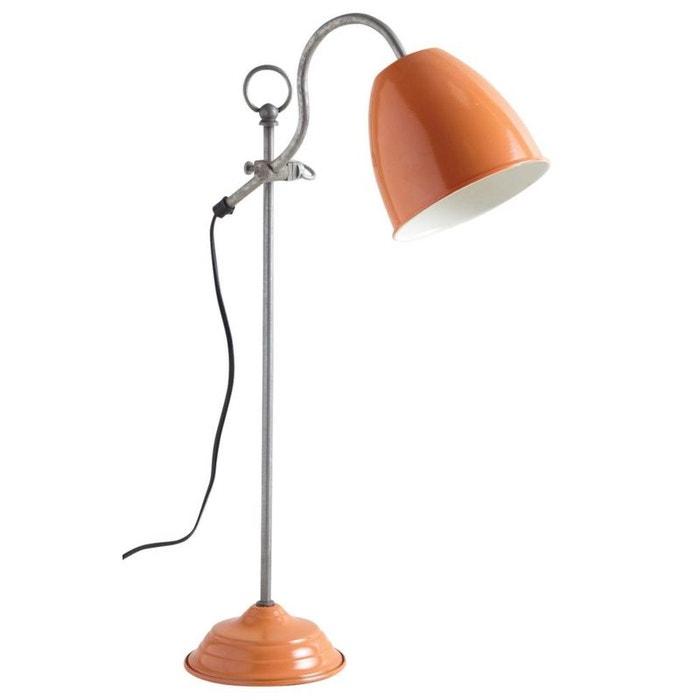 Lampe de bureau en métal laqué bleu