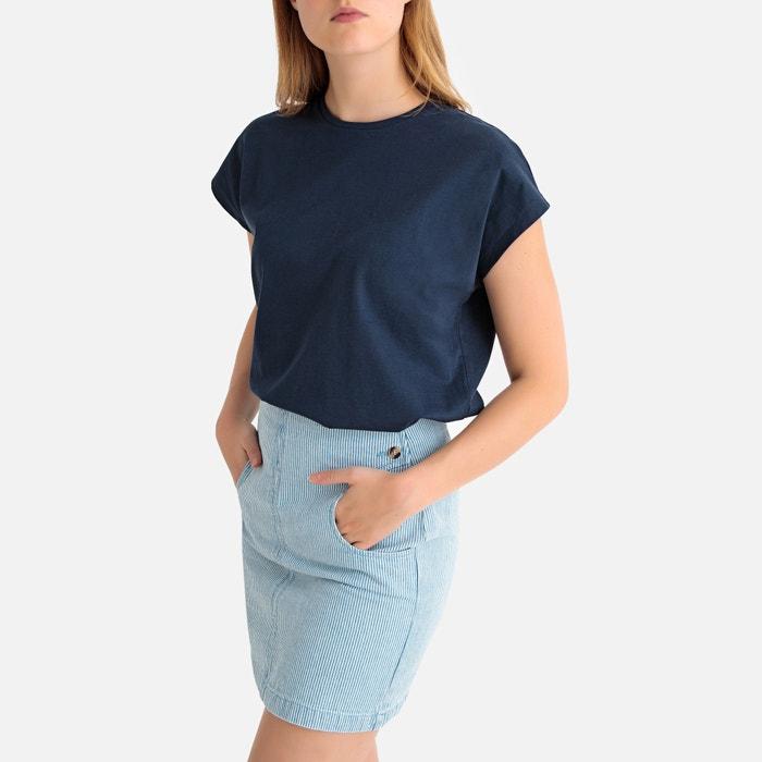 884aba2c7 T-shirt de mangas curtas, em algodão bio, gola redonda LA REDOUTE  COLLECTIONS