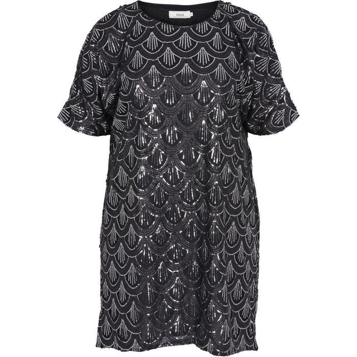 robe noir zizzi en solde la redoute. Black Bedroom Furniture Sets. Home Design Ideas
