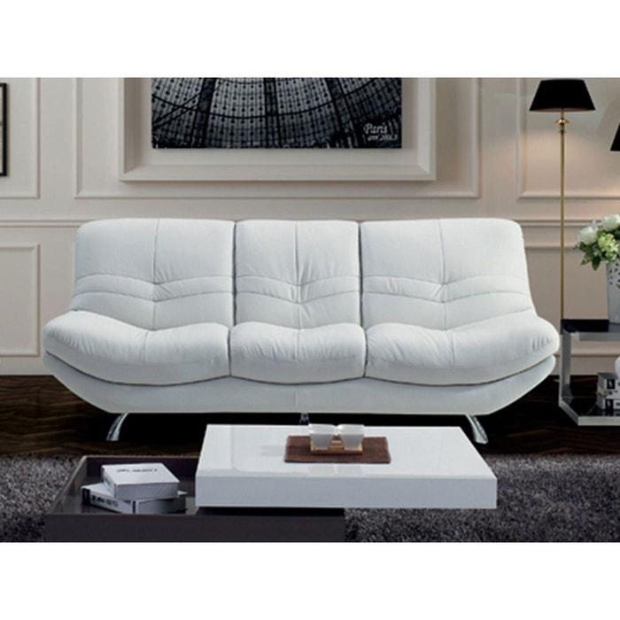 canap 3 places diane blanc la maison du canape la redoute. Black Bedroom Furniture Sets. Home Design Ideas