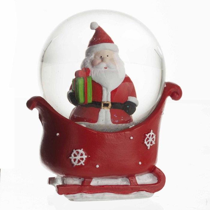 boule neige de no l p re no l rouge feerie christmas la redoute. Black Bedroom Furniture Sets. Home Design Ideas