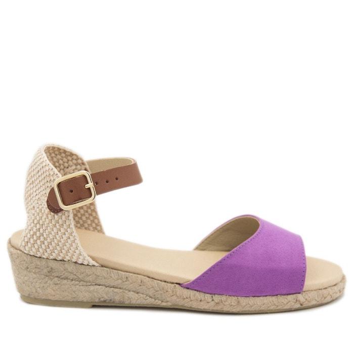 Sandales compensé en cuir malva Maria Barcelo Footlocker Vente En Ligne Réduction Authentique Sortie IacquNy