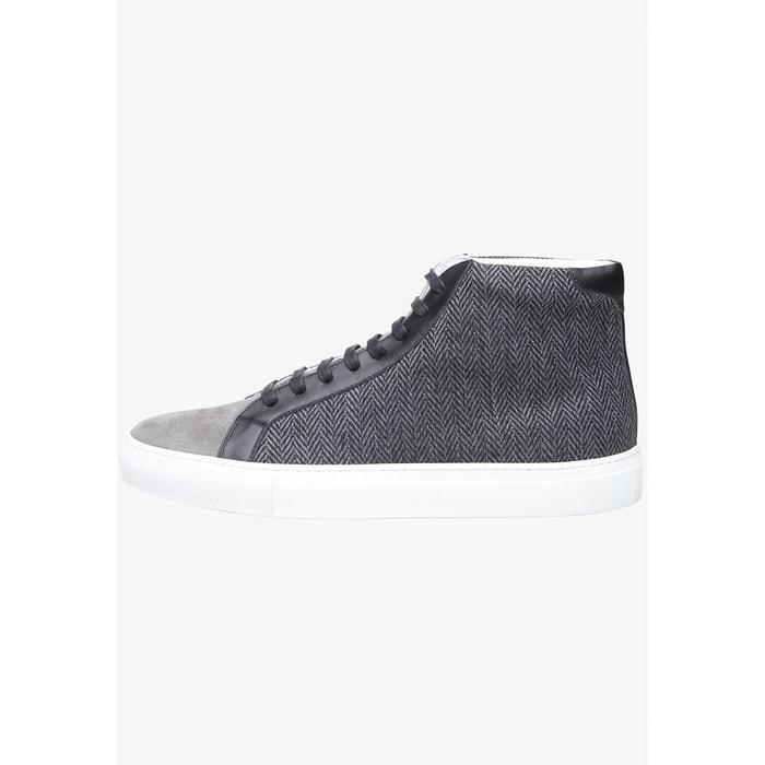 Sneaker velours en gris dunkelgrau/schwarz Shoepassion
