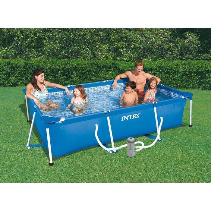 Piscine tubulaire rectangulaire 3 00 x 2 00 x 0 75 m - Intex piscine tubulaire rectangulaire ...