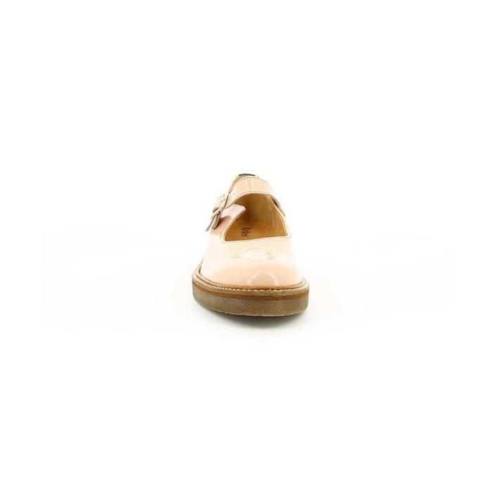 Babies cuir vernis femme oxitane vernis beige Kickers