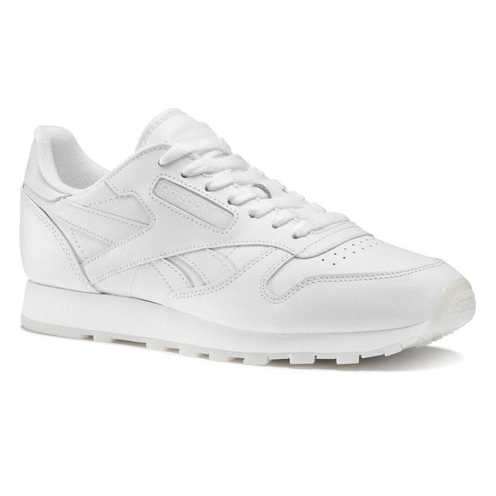 Classic leather solids  blanc Reebok Classics  La Redoute