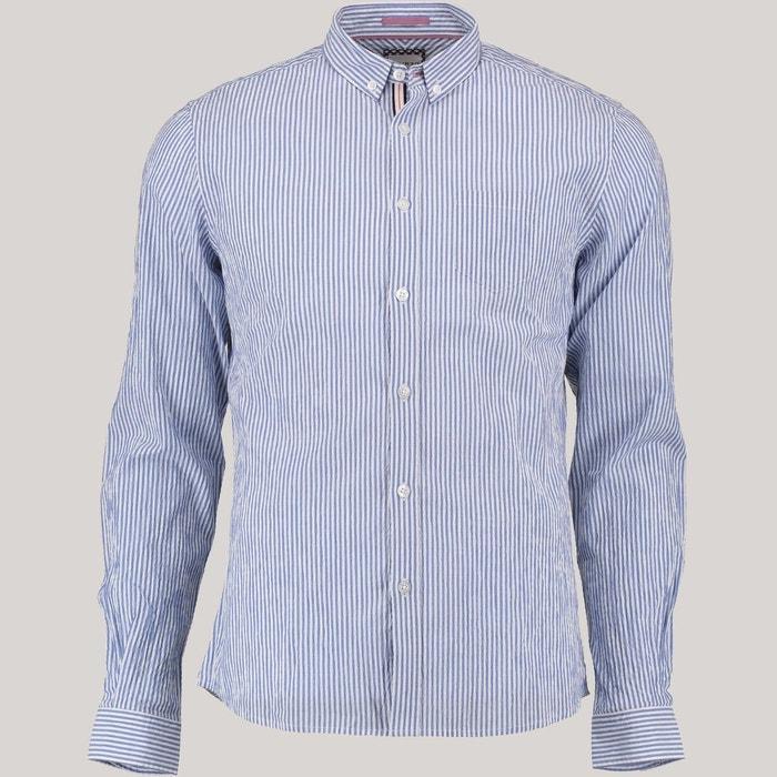 chemise homme casual rayures bleu night devred la redoute. Black Bedroom Furniture Sets. Home Design Ideas