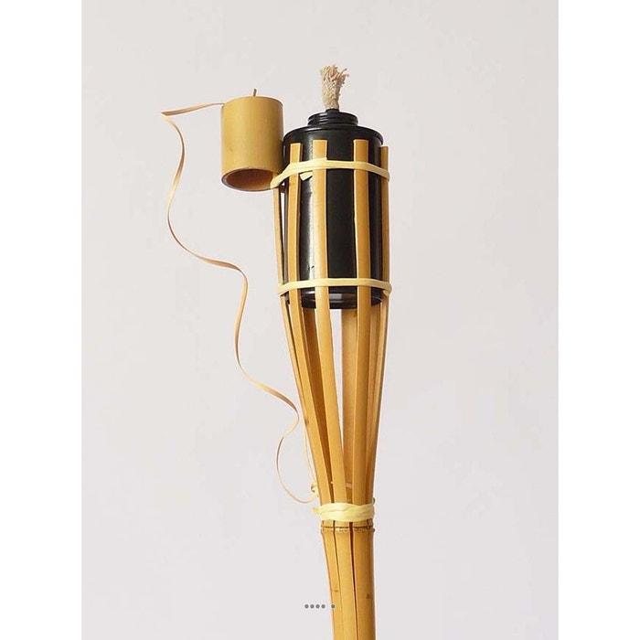 Torche bambou h 100 cm avec bouchon artif deco la redoute - Torche a huile jardin ...