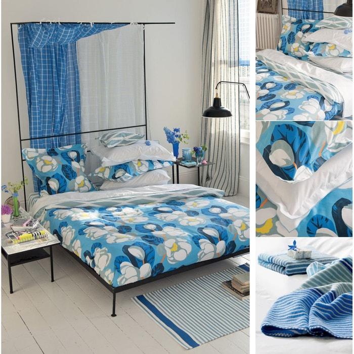 couvre lit satin de coton mirano quilt bleu designers guild la redoute. Black Bedroom Furniture Sets. Home Design Ideas