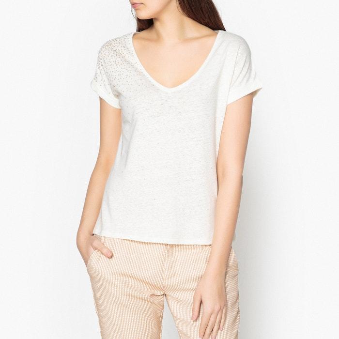 Lendemain De Fete V-Neck T-Shirt with Gold-Coloured Polka Dots  BLUNE image 0
