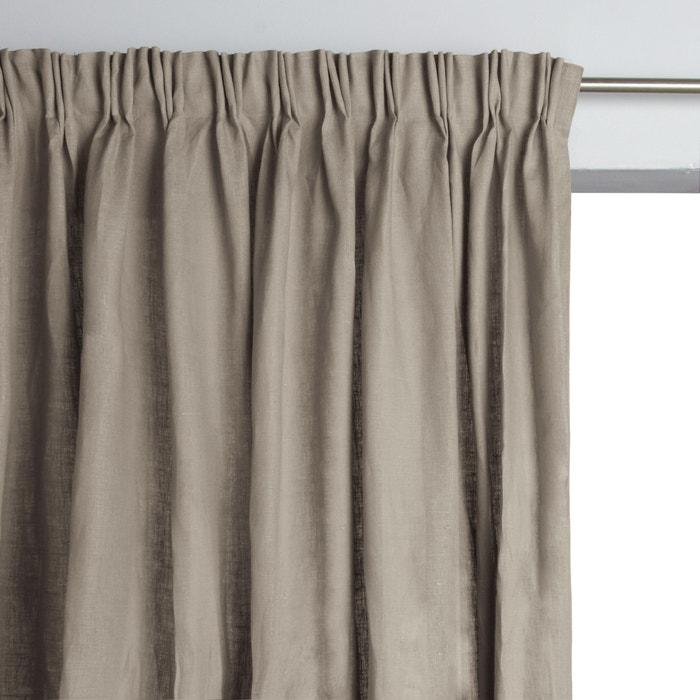 rideau pur lin plis flamands colin am pm la redoute. Black Bedroom Furniture Sets. Home Design Ideas