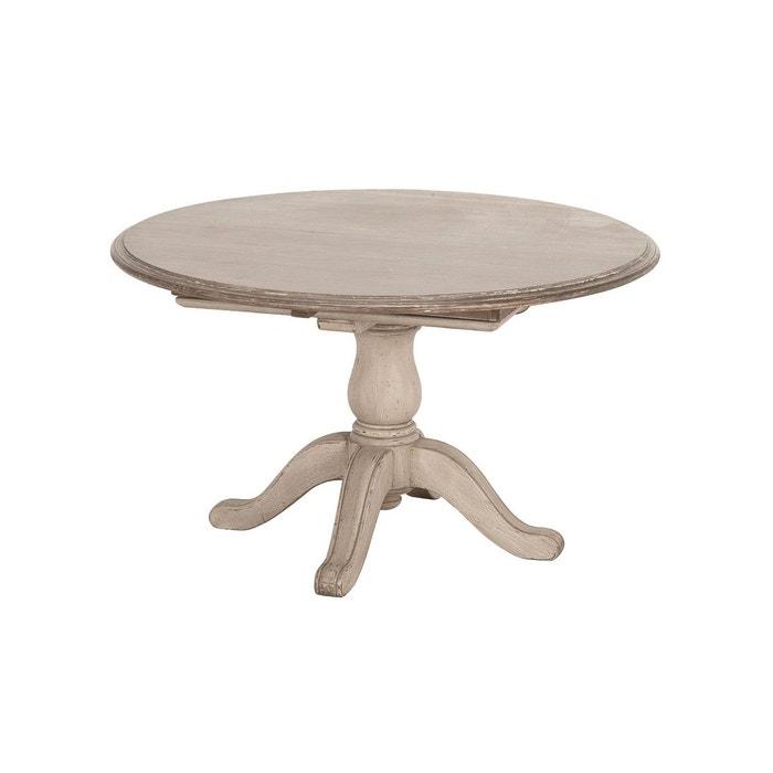table ronde allonges beige interior s la redoute. Black Bedroom Furniture Sets. Home Design Ideas