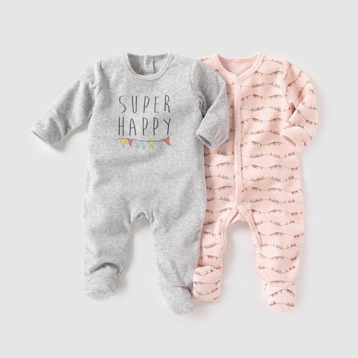 Imagen de Pijama de terciopelo (lote de 2) 0 meses-3 años R mini