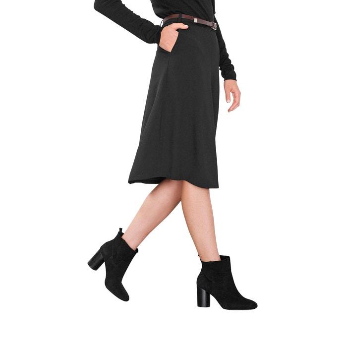 Flared Midi Skirt.