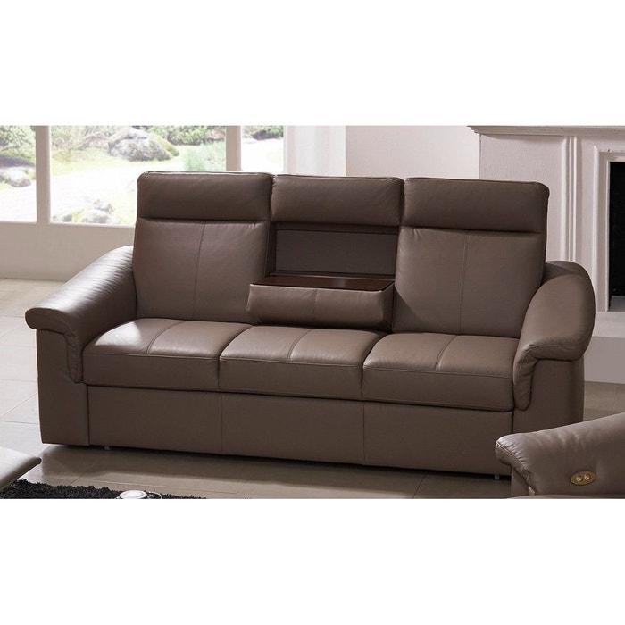 canap cuir 3 places convertible johnjohn et tablette. Black Bedroom Furniture Sets. Home Design Ideas