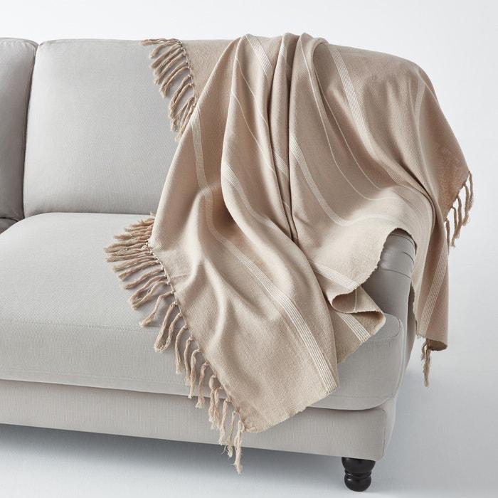 plaid con flecos nedo la redoute interieurs la redoute. Black Bedroom Furniture Sets. Home Design Ideas