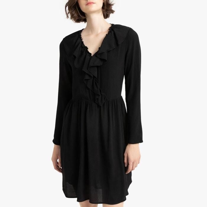 Robe Cache Cœur Manches Longues Noir La Redoute Collections La Redoute