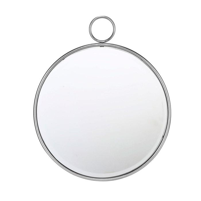 Miroir rond avec anneau 62cm argent emde premium la redoute for Miroir rond grande taille